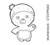 cartoon cute teddy bear in hat | Shutterstock . vector #172199663