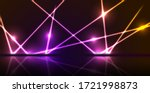 purple and orange neon laser... | Shutterstock .eps vector #1721998873