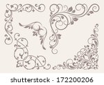 set of corner ornaments. | Shutterstock .eps vector #172200206