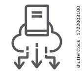 Cloud Library Line Icon ...
