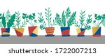Potted Plants Seamless Vector...