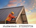 Roofer Construction Worker...