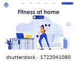 fitness at home flat landing...