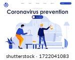 coronavirus prevention flat...