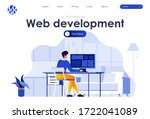web development flat landing...