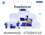 freelancer flat landing page...