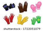 different gloves and mittens as ... | Shutterstock .eps vector #1722051079