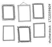 set of hand drawn doodle frames | Shutterstock .eps vector #1722059809