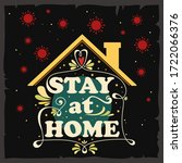 stay at home. motivational and...   Shutterstock .eps vector #1722066376