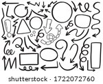 hand drawn doodle design... | Shutterstock .eps vector #1722072760