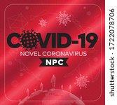 coronavirus outbreak.... | Shutterstock .eps vector #1722078706