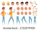 young man character creation...   Shutterstock .eps vector #1722079900