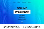 online webinar landing page...   Shutterstock .eps vector #1722088846