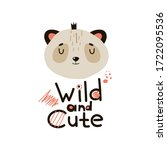 panda head crown with wild and... | Shutterstock .eps vector #1722095536