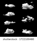 Set of isolated white clouds...