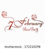 rose day 7 february for... | Shutterstock .eps vector #172210298