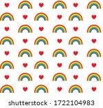 vector seamless pattern of flat ... | Shutterstock .eps vector #1722104983