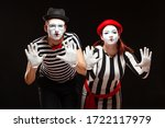 Portrait Of Man And Woman Mime...