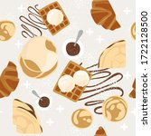seamless pattern with baked...   Shutterstock .eps vector #1722128500