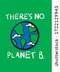 there is no planet b ecologic...   Shutterstock .eps vector #1722129943