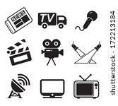 tv station icons | Shutterstock .eps vector #172213184