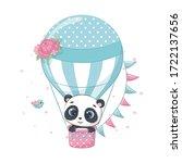 cute baby panda bear on a hot...   Shutterstock .eps vector #1722137656