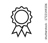 approval medal icon symbol... | Shutterstock .eps vector #1722144106