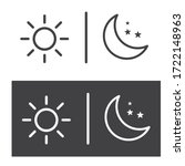 the sun and moon with stars. | Shutterstock .eps vector #1722148963