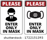 please enter only in mask.... | Shutterstock .eps vector #1722151393