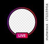 instagram profile live icon... | Shutterstock .eps vector #1722155416