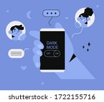 hand hold smartphone with dark...   Shutterstock .eps vector #1722155716