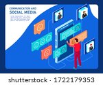 conversation between group of...   Shutterstock .eps vector #1722179353