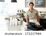 male owner of coffee shop | Shutterstock . vector #172217984