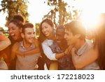group of friends having fun... | Shutterstock . vector #172218023