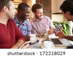 group of male friends meeting... | Shutterstock . vector #172218029