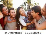 group of friends having fun... | Shutterstock . vector #172218053