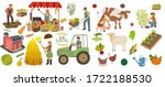 local organic production icons...   Shutterstock . vector #1722188530