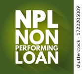 npl   non performing loan... | Shutterstock .eps vector #1722205009