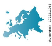 europe map on blue background... | Shutterstock .eps vector #1722211066