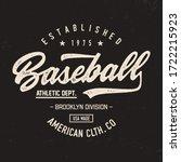 """"""" baseball. new york"""". sport...   Shutterstock .eps vector #1722215923"""