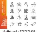 outline web icons set  ... | Shutterstock .eps vector #1722222580