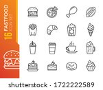 fast food line icon set. burger ... | Shutterstock .eps vector #1722222589