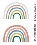 colored children's rainbow in...   Shutterstock .eps vector #1722236239