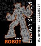print with robot. vector t... | Shutterstock .eps vector #1722238339
