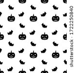 bat background. bat seamless... | Shutterstock .eps vector #1722250840