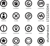icon set for application...