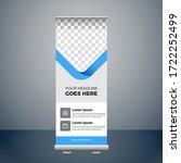 print roll up banner design... | Shutterstock .eps vector #1722252499