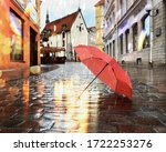 Rainy City Evening  Blurred...