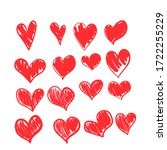 set of vector drawings of... | Shutterstock .eps vector #1722255229