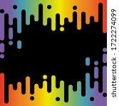 abstract rainbow pulse music... | Shutterstock . vector #1722274099